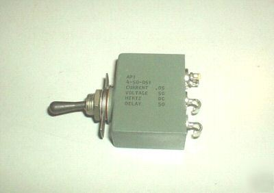 New 2 circuit breaker switch 0.05A ,50V airpax 4-50-051