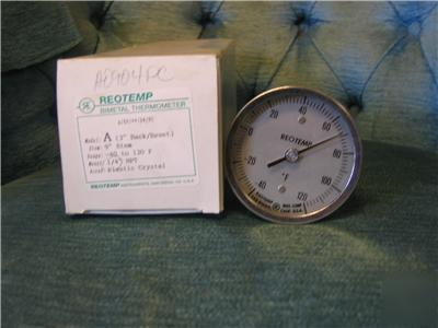 New reotemp bimetal thermometer -40 - 120 f in box