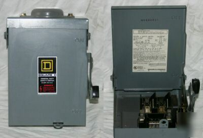 New square d 3R 30 amp general duty safety switch