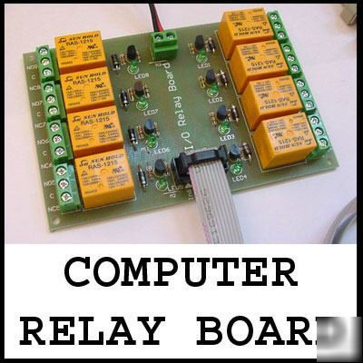 Relay unit - control up to 8 devices using your pc