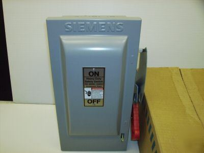 Siemens safety switch disconnect HF361 30 amp fuse