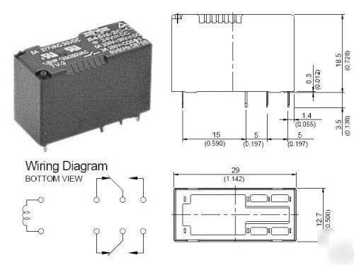 Song chuan 12VDC 5A dpdt pcb mount relay 2 pack picture chuan 12vdc 5a dpdt pcb mount relay ( 2 pack ) song chuan relay wiring diagram at pacquiaovsvargaslive.co
