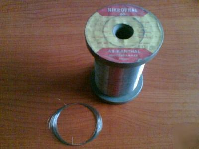 38 ga, 30 ft, nichrome resistance wire, nikrothal 60
