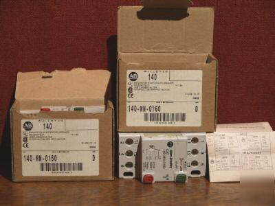 Allen-bradley 140-mn-0160 ser d two for one money