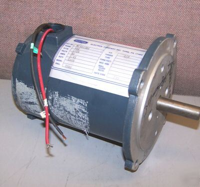 electrol 1 8 hp dc electric motor m 4610nv 56c frame