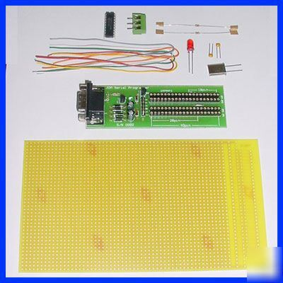 Getting started pic 16F84 led pcb kit + programmer