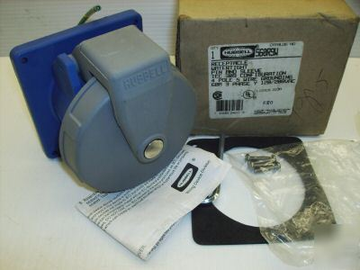 Hubbell pin & sleeve receptacle HBL560R9W 560R9W 60 amp