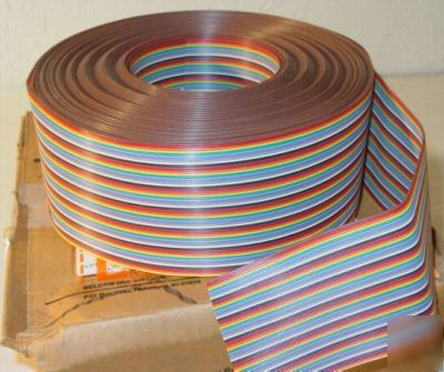 New *100FT* belden 9R28064 64 conductor rainbow ribbon -