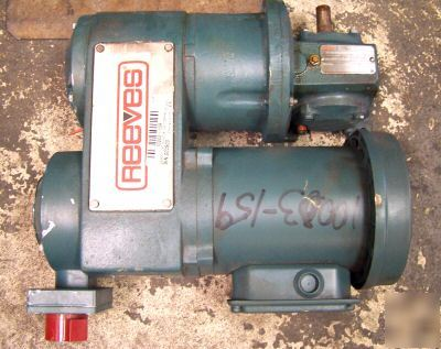 Reliance reeves 1/2 hp drive gearmotor frame EC56C