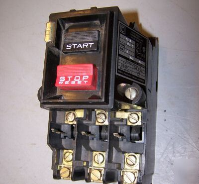Square d 5 hp manual motor starter 2510 MBG2 600 v max