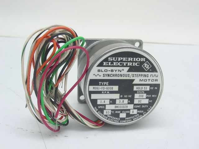 Superior electric mo61 fd 6008 slo syn synchronous ste for Superior electric slo syn motor