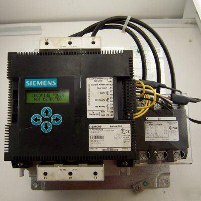 Siemens elevator motor starter 200 460v 3ph 130amp for Siemens motor starter catalog pdf