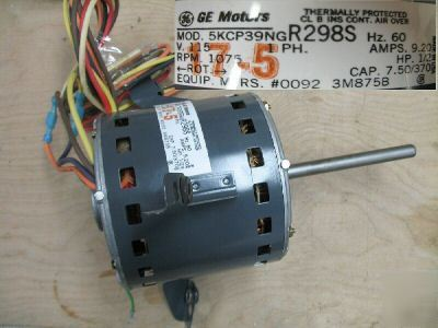 New ge blower motor 1 2 hp 5kcp39ng 115 volts for 2 hp blower motor