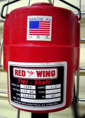 New red wing flex shaft motor w/ foredom handpiece