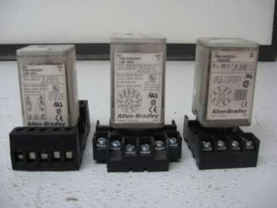 Allen-bradley 700-ha/hb series b/c relays lot of 3