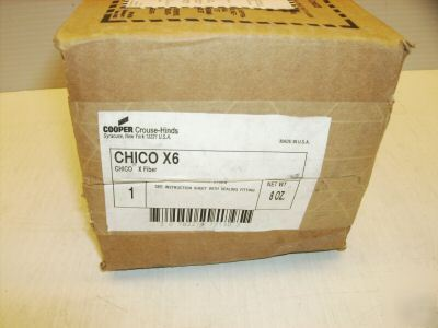 Crouse-hinds chico X6 x fiber for hazardous fittings
