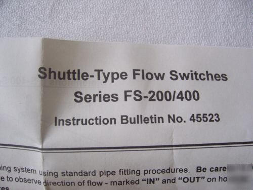 Gems flow sensor control switch, over $500.00 retail