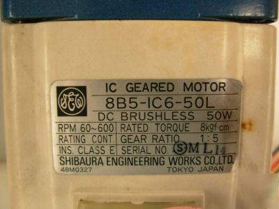 General electric ic geared motor 8B5IC650L 1:5 ratio