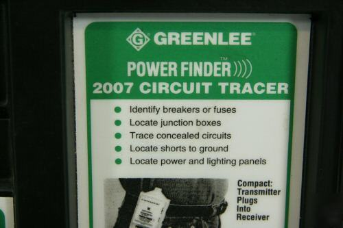 Greenlee power finder 2007 circuit tracer very nice