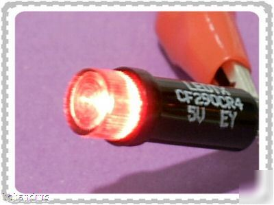 Ledtronics (5 volt) red led bi-pin cartridge lamp