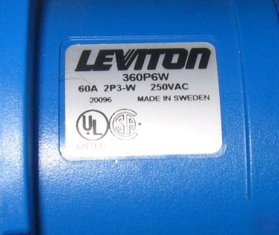 Leviton 250 vac 2P3W watertight pin and sleeve plug