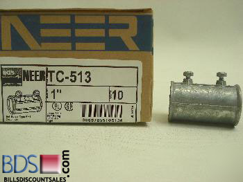 Neer 1� zinc die cast set screw emt couplings for steel