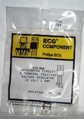 New ECG966 NTE966 12V regulator 1 amp