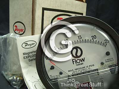 New dwyer magnehelic diff. gage 0-25MM water, *21001002