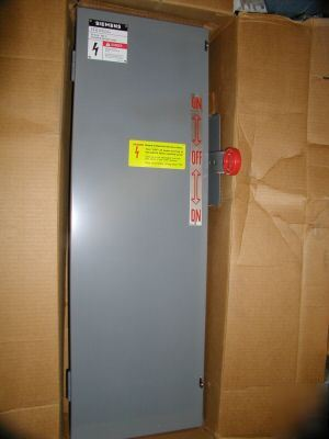 New siemens double throw safety switch fusible 30 a