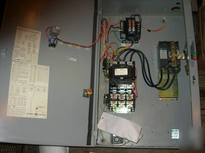 ge motor starter / disconnect enclosure -used