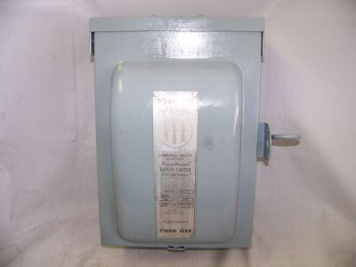 ite rainproof safety switch 60 amp -322 240 vac
