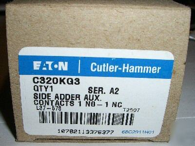 Cutler C320KG3 auxilary contact $12.95 free shipping
