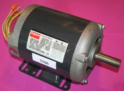 Dayton industrial motor 2Z007, 1 hp 3PH ref#3166
