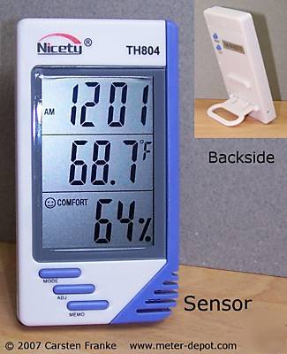 Digital hygrometer thermometer humidity meter humidor 4