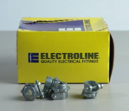 Electroline straight squeeze connectors 3/8