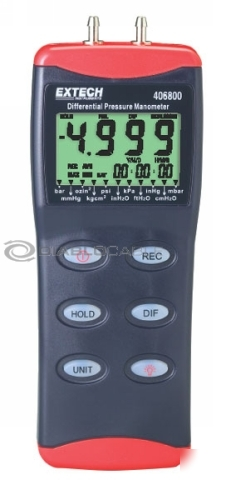 Extech 406800 digital differential pressure manometer
