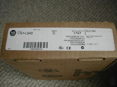 Factory sealed allen bradley 1747-L543/c processor