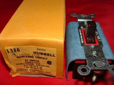 Hubbell maintained contact dpdt HBL1386 20A 1HP