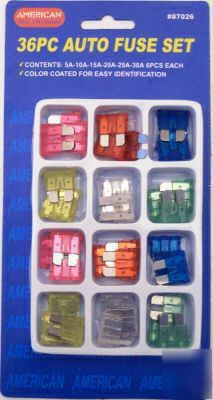 New auto fuse set - blade style - 36 pc. -