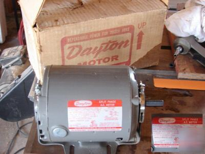 New dayton 1/6 hp sp electric motor
