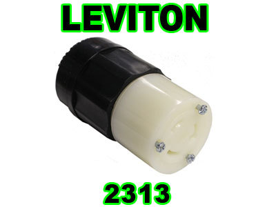 New leviton 2313 female in-line connector plug 20A 125V