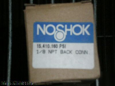 Noshok 118 npt back connector 160 psi