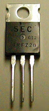 Power mosfet, hexfet transistors 50 volt lot qty 10