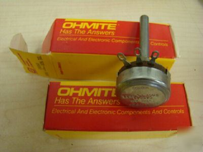 (2) ohmite CA5041 potentiometer, =
