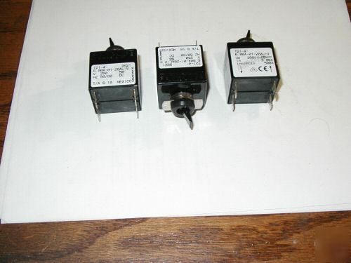 Airpax toggle switches lot of three