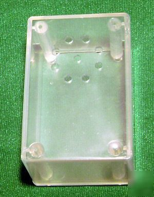 Clear plastic electronic project box case enclosure
