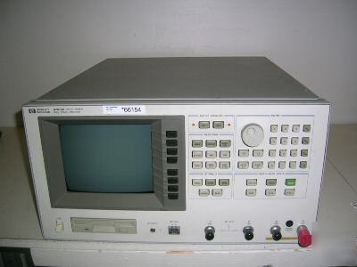 Hp 87510A gain phase analyzer, 100KHZ-300MHZ.