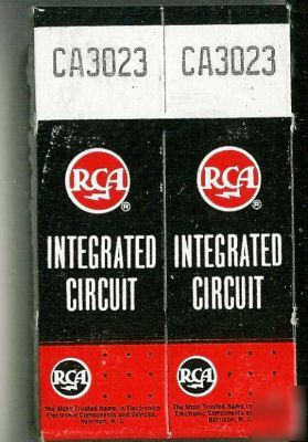 Lot of 2 rca CA3023 nos to-5 gold legs 1967 made