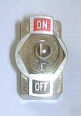 New : 10 x standard dpdt toggle switches double pole