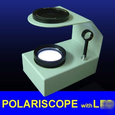 New desktop polariscope built-in led gemstone gem